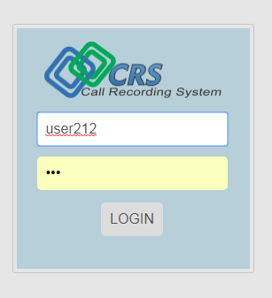 Log in to the CRS system